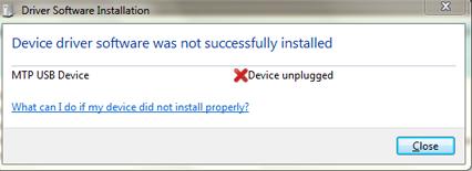 PROBLEMAS CON EL MTP-USB DEVICE –  ·